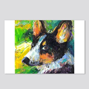 Corgi Welsh pembrooke dog 1 Postcards (Package of