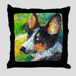Corgi Welsh pembrooke dog 1 Throw Pillow