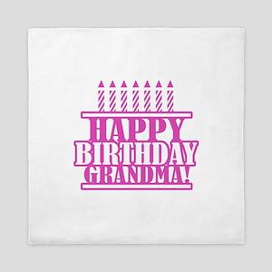 Happy Birthday Grandma Queen Duvet