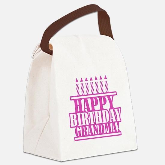 Happy Birthday Grandma Canvas Lunch Bag