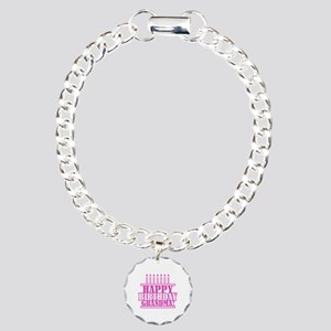 Happy Birthday Grandma Charm Bracelet, One Charm