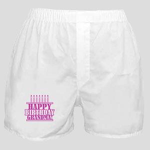 Happy Birthday Grandma Boxer Shorts