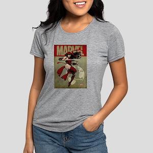 Elektra Marvel Vintage Womens Tri-blend T-Shirt