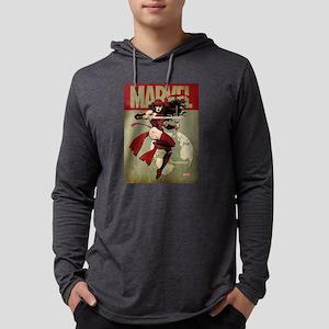 Elektra Marvel Vintage Mens Hooded Shirt