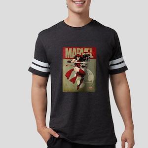 Elektra Marvel Vintage Mens Football Shirt