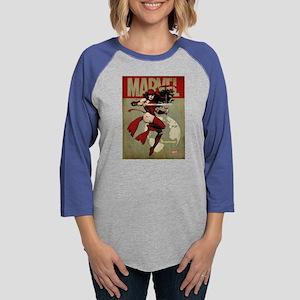 Elektra Marvel Vintage Womens Baseball Tee