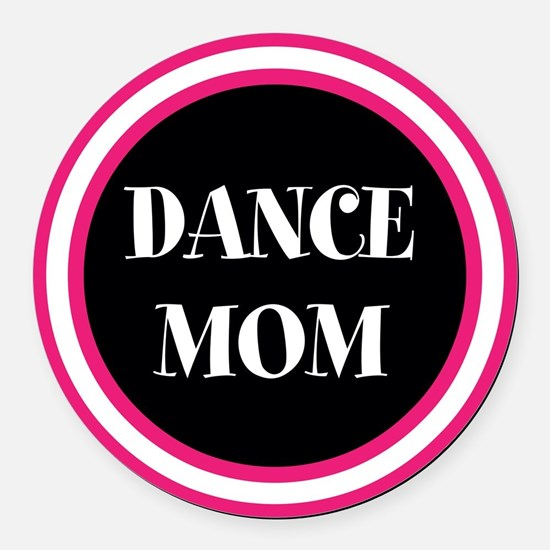 Cute Dancer Round Car Magnet