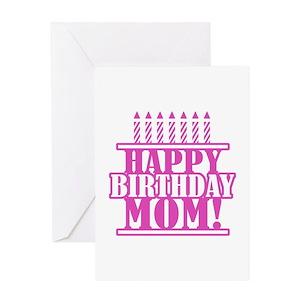 Happy birthday mom greeting cards cafepress m4hsunfo