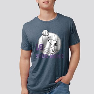 Snoopy Volleyball Personali Mens Tri-blend T-Shirt