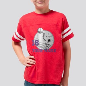 Snoopy Volleyball Personalize Youth Football Shirt