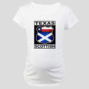 Texas Scottish American Maternity T-Shirt