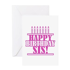 Happy birthday twin sister greeting cards cafepress m4hsunfo