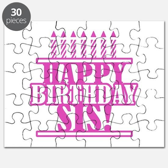 Happy Birthday Sister Puzzle