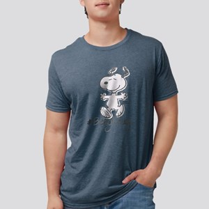 Snoopy Beagle Hugs Mens Tri-blend T-Shirt