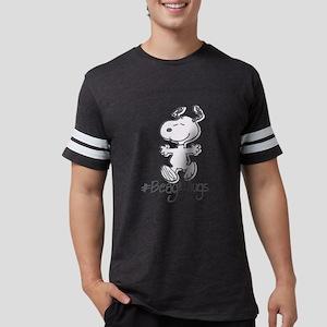 Snoopy Beagle Hugs Mens Football Shirt