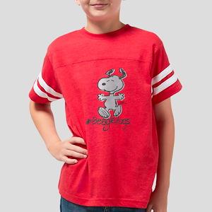 Snoopy Beagle Hugs Youth Football Shirt