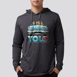 I Love Lucy: YOLO Dark Mens Hooded Shirt