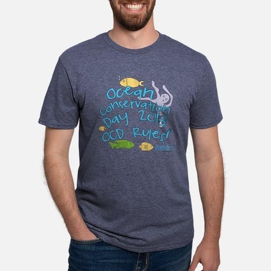 New Girl OCD Light Mens Tri-blend T-Shirt