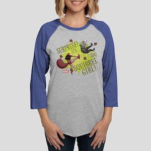 Squirrel Girl Fighting Crime Womens Baseball Tee