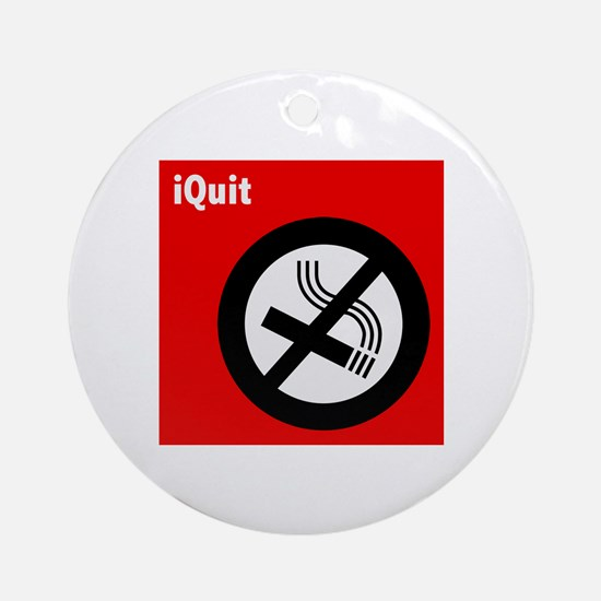 iQuit Smoking Ornament (Round)