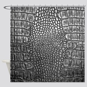 Crocodile Leather Shower Curtain