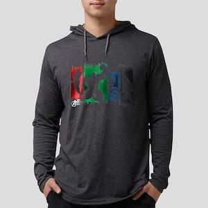 Avengers Stripes Mens Hooded Shirt