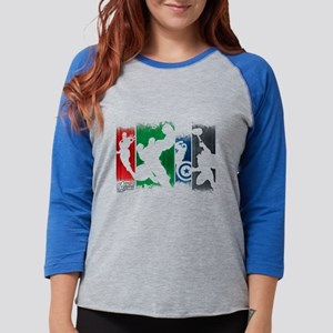 Avengers Stripes Womens Baseball Tee