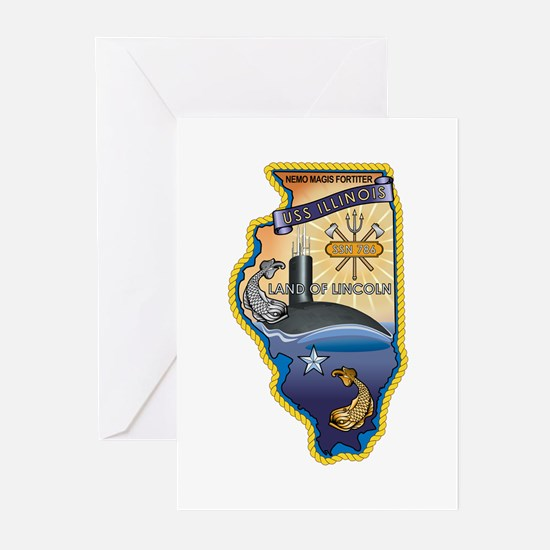 USS Illinois SSN-786 Greeting Cards (Pk of 10)
