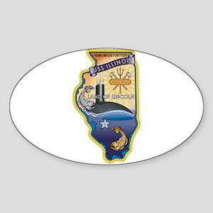USS Illinois SSN-786 Sticker (Oval)