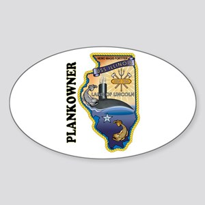 USS Illinois Plankowner Sticker (Oval)