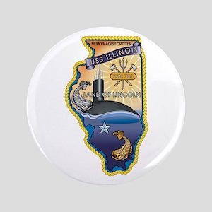"""USS Illinois SSN-786 3.5"""" Button"""