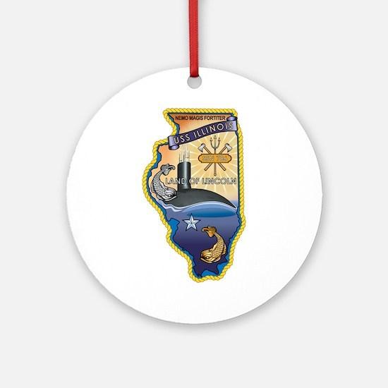 USS Illinois SSN-786 Ornament (Round)
