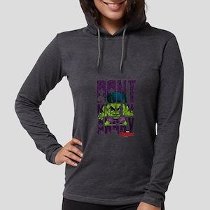Chibi Angry Hulk Womens Hooded Shirt