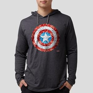 Captain America Pixel Shield Mens Hooded Shirt