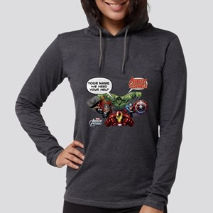 Avengers We Need Your Help Womens Hooded Shirt