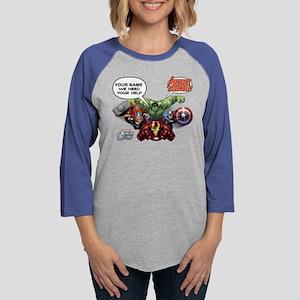 Avengers We Need Your Help Womens Baseball Tee