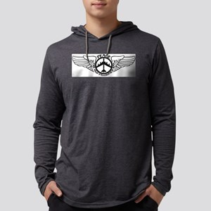 Peace B-52 with Wings Mens Hooded Shirt