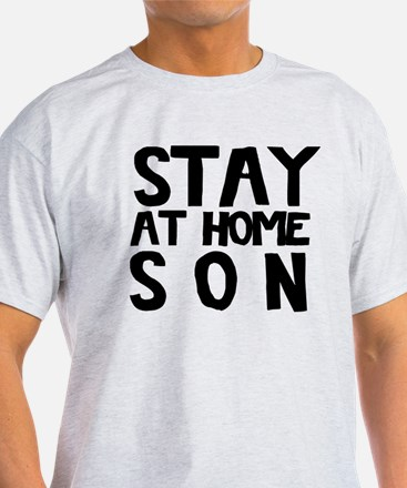 Stay At Home Son Black T-Shirt