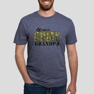 Camo Proud Army Grandpa Mens Tri-blend T-Shirt