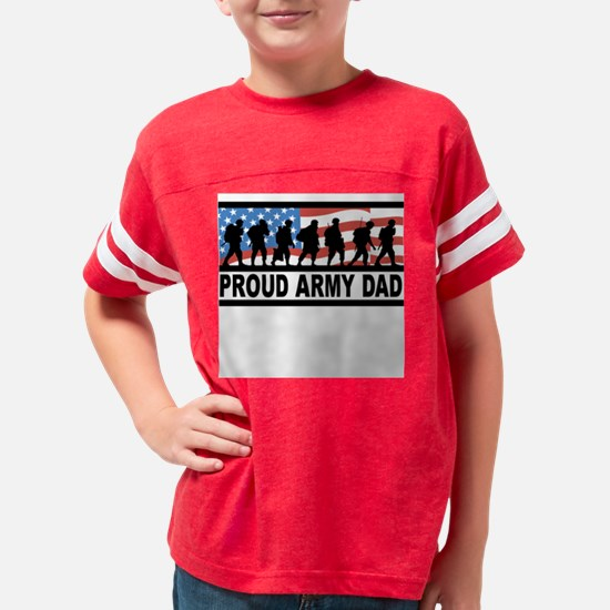 PROUD ARMY DAD Youth Football Shirt
