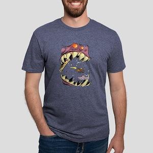 GOTG Comic Rocket Big Mouth Mens Tri-blend T-Shirt
