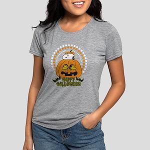 SnoopyPumpkin-Dark Womens Tri-blend T-Shirt