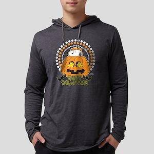 SnoopyPumpkin-Dark Mens Hooded Shirt
