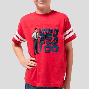 Archer Lying Dark Youth Football Shirt