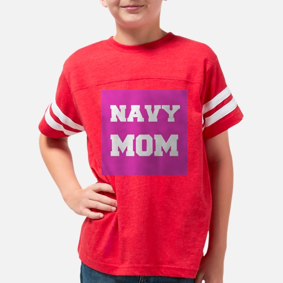 Navy Mom Youth Football Shirt