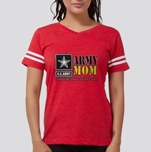 Army Mom Proud Womens Football Shirt