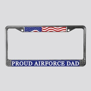 Proud Airforce Dad License Plate Frame