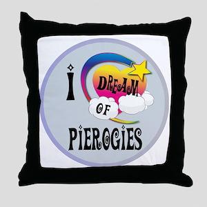 I Dream of Pierogies Throw Pillow