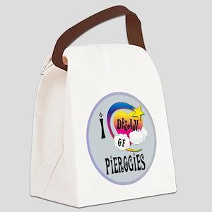 I Dream of Pierogies Canvas Lunch Bag