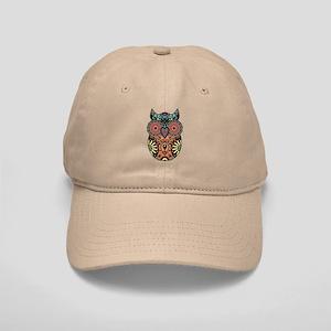 Sugar Skull Owl Color Cap